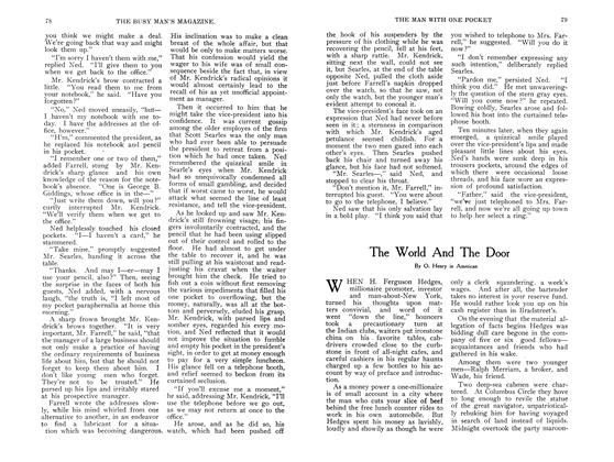 Article Preview: The World And The Door, September 1907 | Maclean's