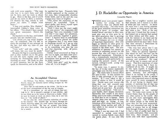 Article Preview: J. D. Rockefeller on Opportunity in America, September 1907 | Maclean's