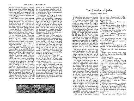 Article Preview: The Evolution of Jacko, September 1907 | Maclean's