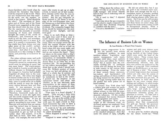 Article Preview: The Influence of Business Life on Women, October 1907 | Maclean's