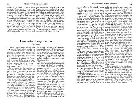 Article Preview: Co-operation Brings Success, October 1907 | Maclean's