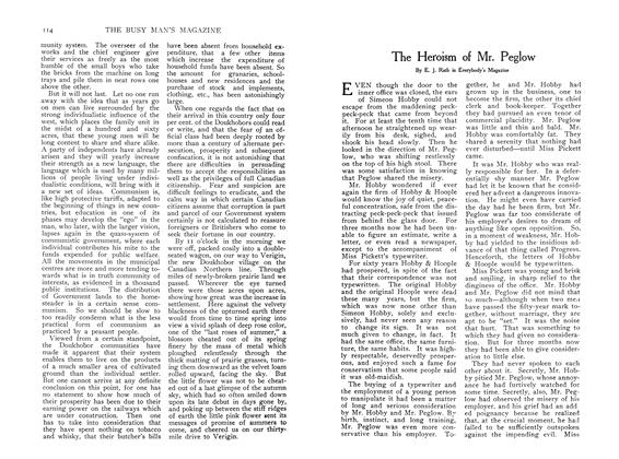 Article Preview: The Heroism of Mr. Peglow, December 1907 | Maclean's