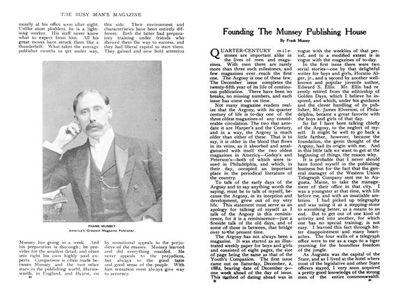 Article Preview: Founding The Munsey Publishing House, January 1908 | Maclean's