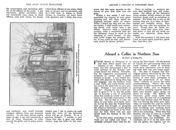Article Preview: Aboard a Collier in Northern Seas, January 1908 | Maclean's