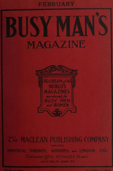 Issue: - February 1908 | Maclean's