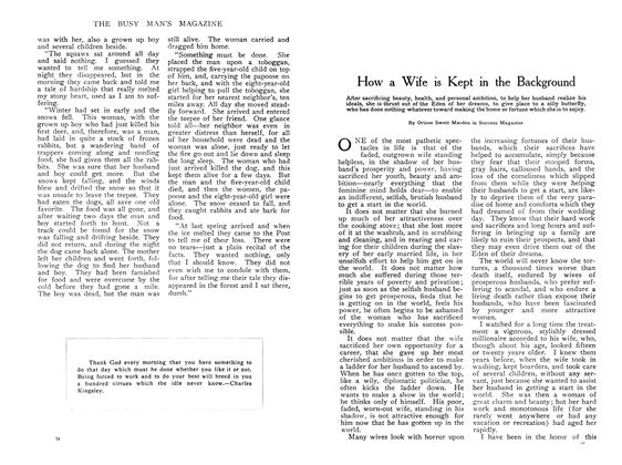 Article Preview: How a Wife is Kept in the Background, April 1908 | Maclean's