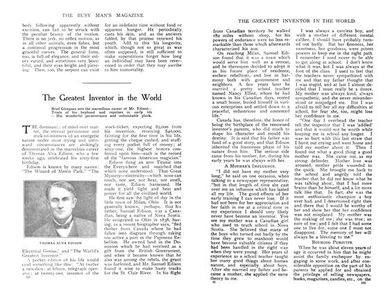 Article Preview: The Greatest Inventor in the World, April 1908 | Maclean's