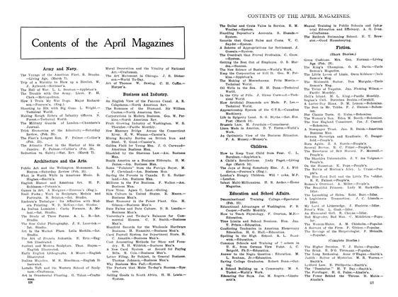 Article Preview: Contents of the April Magazines, April 1908 | Maclean's