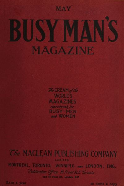 Issue: - May 1908 | Maclean's