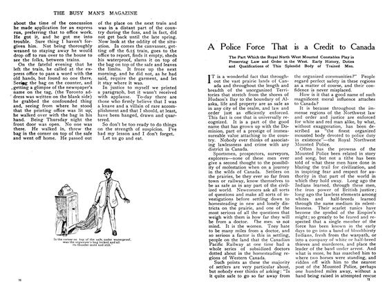 Article Preview: A Police Force That is a Credit to Canada, May 1908   Maclean's