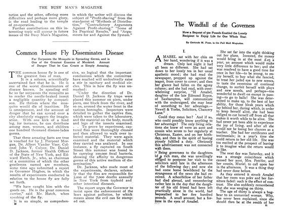 Article Preview: The Windfall of the Governess, May 1908   Maclean's