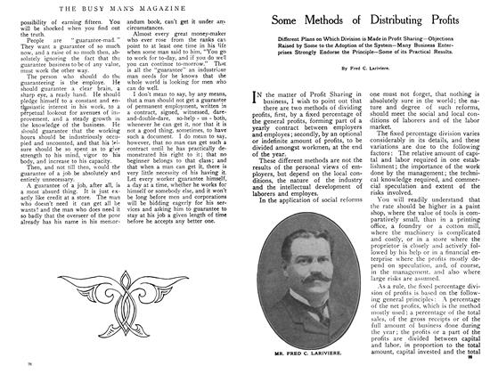 Article Preview: Some Methods of Distributing Profits, June 1908 | Maclean's