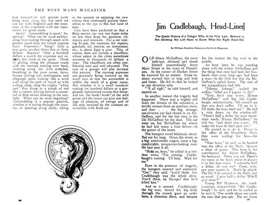 Article Preview: Jim Saddlebag, Head-Liner, June 1908 | Maclean's