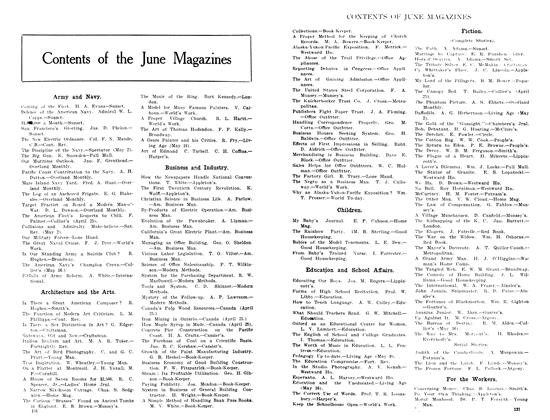 Article Preview: Contents of the June Magazines, June 1908 | Maclean's