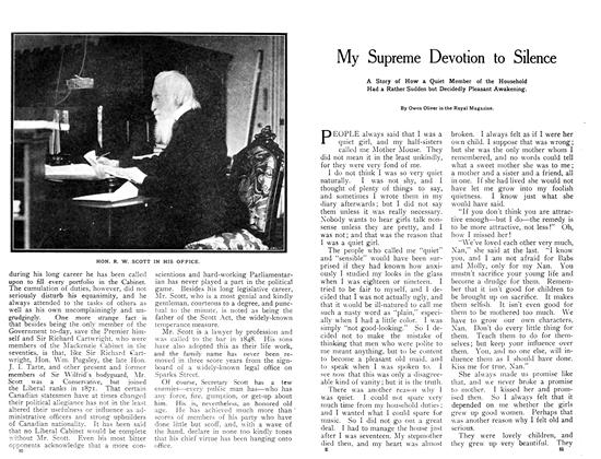 Article Preview: My Supreme Devotion to Silence, July 1908 | Maclean's