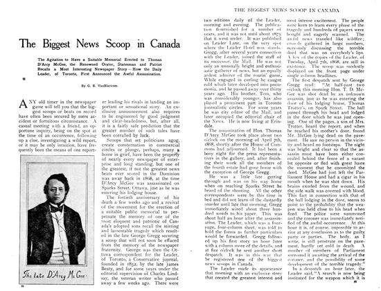 Article Preview: The Biggest News Scoop in Canada, July 1908 | Maclean's