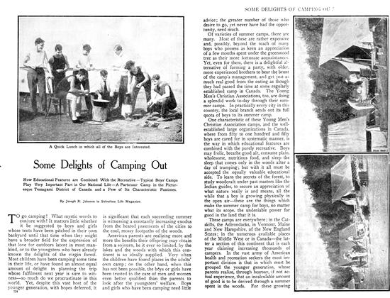 Article Preview: Some Delights of Camping Out, July 1908 | Maclean's