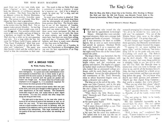 Article Preview: The King's Grip, August 1908 | Maclean's
