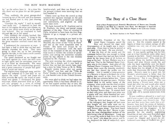 Article Preview: The Story of a Close Shave, August 1908 | Maclean's
