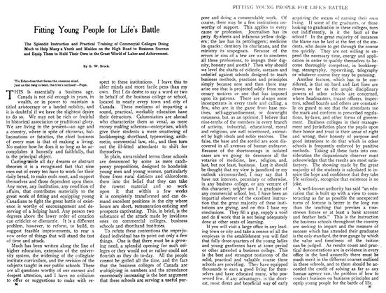 Article Preview: Fitting Young People for Life's Battle, August 1908 | Maclean's