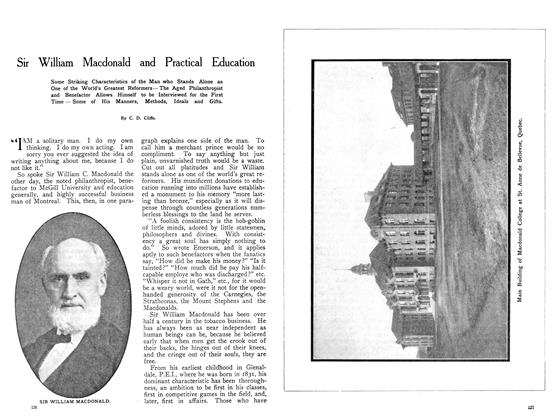 Article Preview: Sir William Macdonald and Practical Education, August 1908 | Maclean's