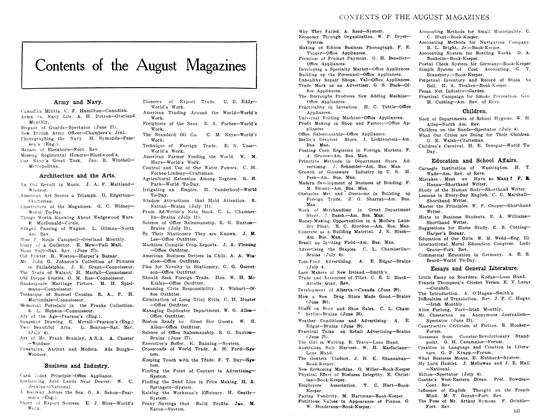 Article Preview: Contents of the August Magazines, August 1908 | Maclean's