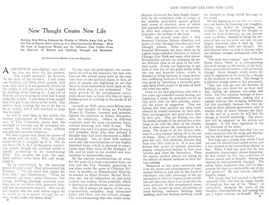 Article Preview: New Thought Creates New Life, September 1908 | Maclean's