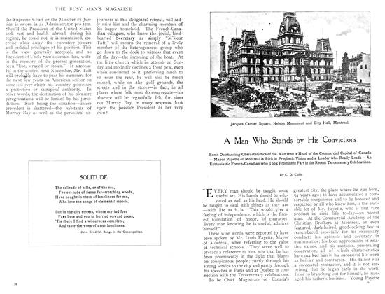 Article Preview: A Man Who Stands by His Convictions, September 1908 | Maclean's