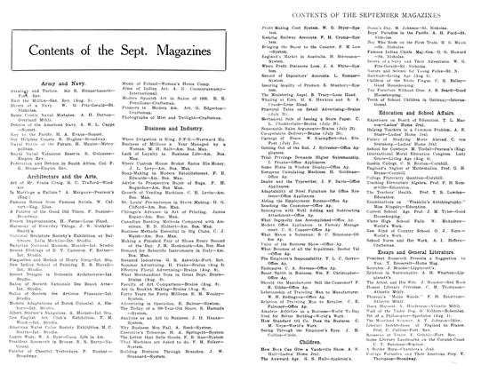 Article Preview: Contents of the Sept. Magazines, September 1908 | Maclean's