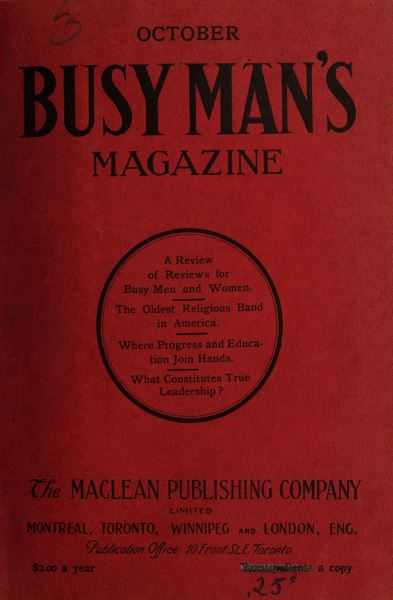 Issue: - October 1908 | Maclean's