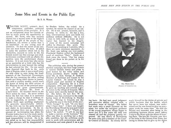 Article Preview: Some Men and Events in the Public Eye, November 1908 | Maclean's