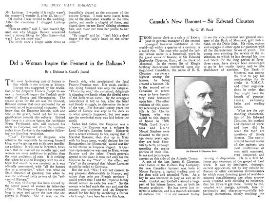 Article Preview: Canada's New Baronet—Sir Edward Clouston, December 1908 | Maclean's