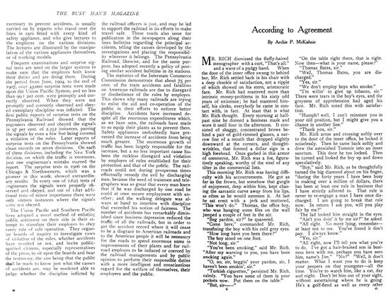 Article Preview: According to Agreement, December 1908 | Maclean's