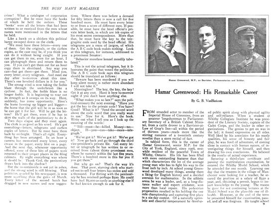 Article Preview: Hamar Greenwood: His Remarkable Career, December 1908 | Maclean's