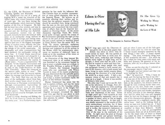Article Preview: Edison is Now Having the Fun of His Life, December 1908 | Maclean's