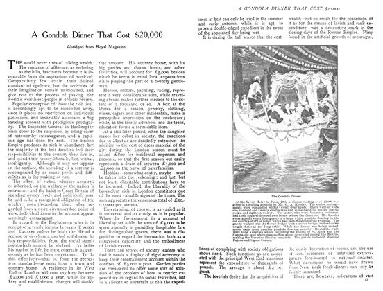 Article Preview: A Gondola Dinner That Cost $20,000, December 1908 | Maclean's