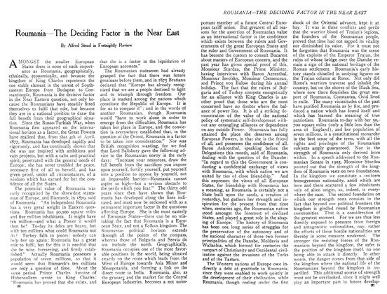 Article Preview: Roumania—The Deciding Factor in the Near East, December 1908 | Maclean's