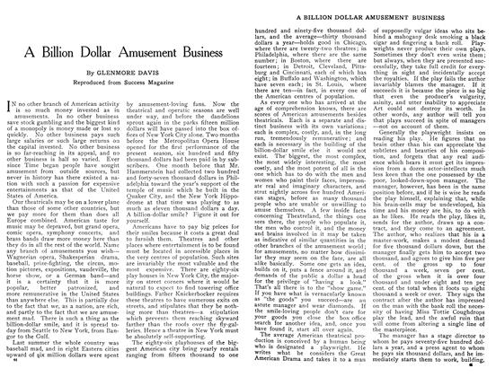 Article Preview: A Billion Dollar Amusement Business, January 1909 | Maclean's