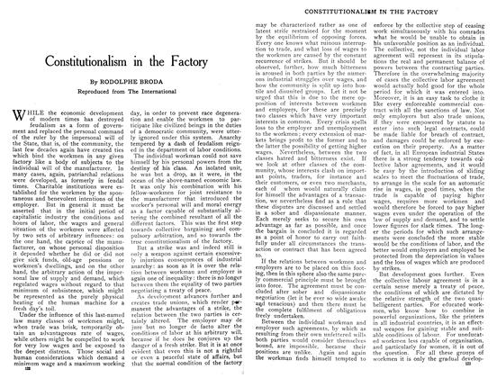 Article Preview: Constitutionalism in the Factory, January 1909 | Maclean's
