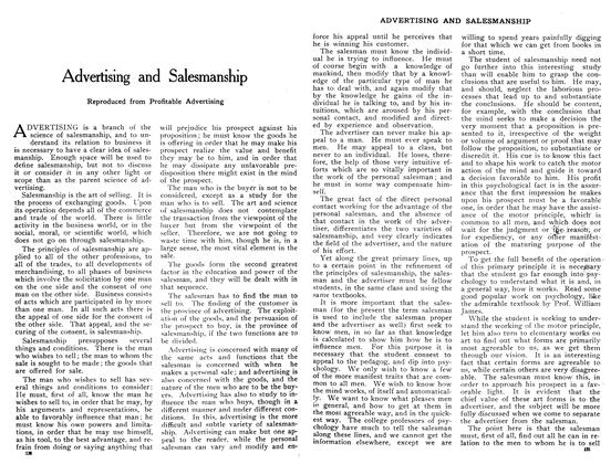 Article Preview: Advertising and Salesmanship, January 1909   Maclean's