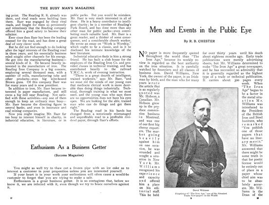 Article Preview: Men and Events in the Public Eye, January 1909 | Maclean's