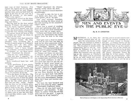 Article Preview: MEN AND EVENTS IN THE PUBLIC EYE, February 1909 | Maclean's