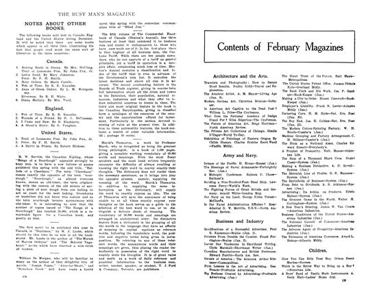 Article Preview: Contents of February Magazines, February 1909 | Maclean's