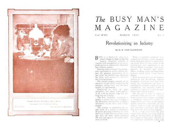 Article Preview: Revolutionizing an Industry, April 1909 | Maclean's
