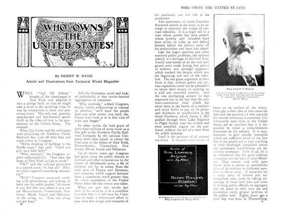 Article Preview: WHO OWNS THE UNITED STATES?, April 1909 | Maclean's