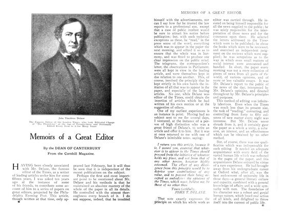 Article Preview: Memoirs of a Great Editor, April 1909 | Maclean's