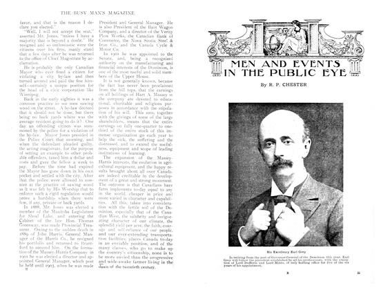 Article Preview: MEN AND EVENTS IN THE PUBLIC EYE, April 1909 | Maclean's