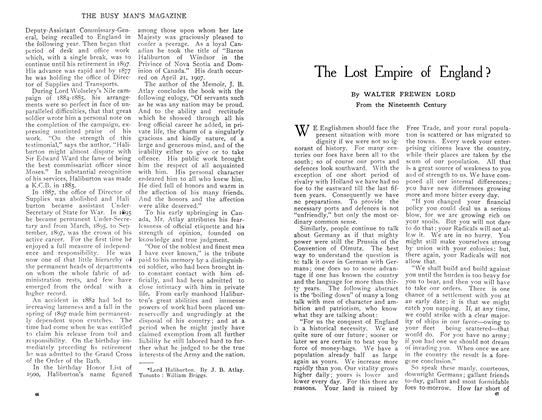 Article Preview: The Lost Empire of England?, April 1909 | Maclean's