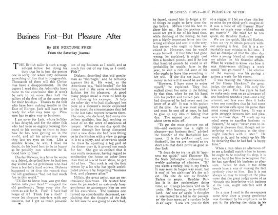 Article Preview: Business First—But Pleasure After, April 1909 | Maclean's
