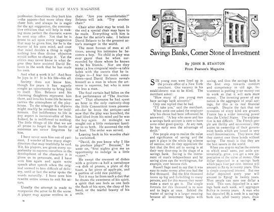 Article Preview: Savings Banks, Corner Stone of Investment, April 1909 | Maclean's